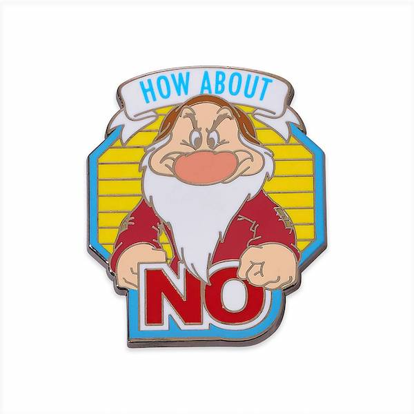 How About No Grumpy Disney Pin