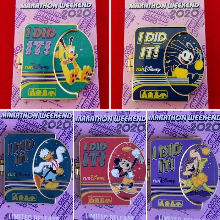 I Did It! Walt Disney World Marathon Weekend 2020 Pins