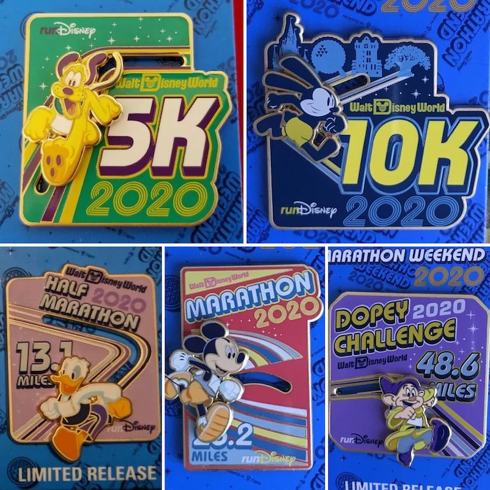 Individual Race Walt Disney World Marathon Weekend 2020 Pins