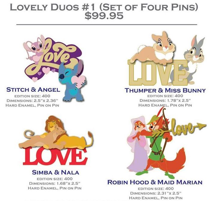 Lovely Duos #1 DSSH Pin Set