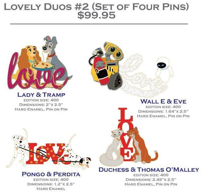Lovely Duos #2 DSSH Pin Set