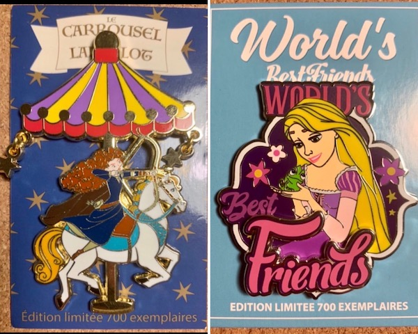 Merida Carousel & Rapunzel Best Friends DLP Pins