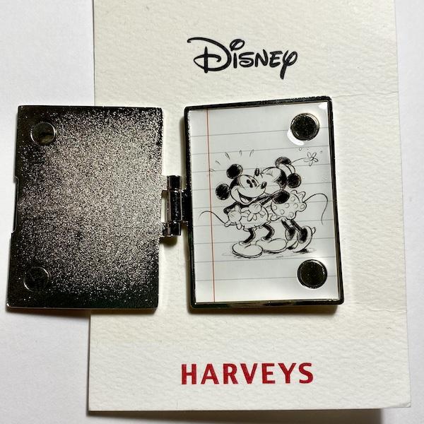 Mickey Loves Minnie Harveys Disney Pin - Inside