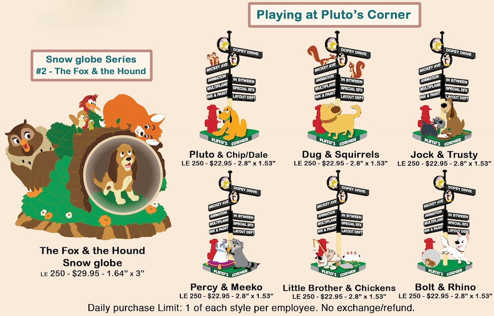 Playing at Pluto's Corner Disney Employee Center Pins