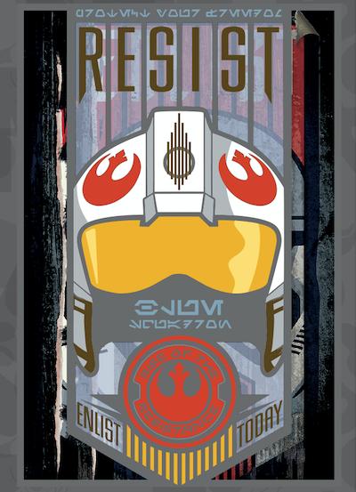 Resist Star Wars Galaxy's Edge Jumbo Pin