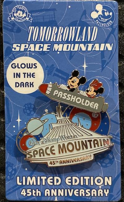 Space Mountain 45th Anniversary Passholder Pin