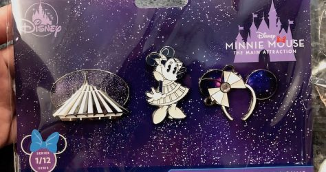 Space Mountain Minnie Mouse The Main Attraction Pin Set