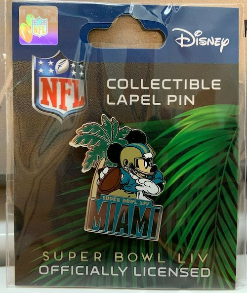 Super Bowl LIV Miami NFL Mickey Mouse Football Pin