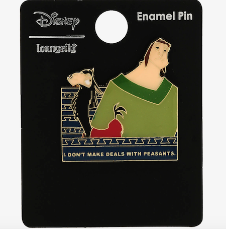 The Emperor's New Groove Deals with Peasants BoxLunch Disney Pin