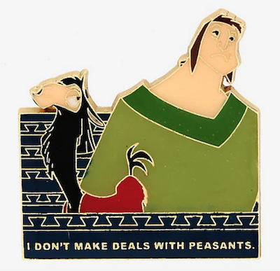 The Emperor's New Groove Deals with Peasants Disney Pin