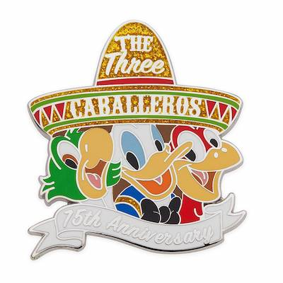 The Three Caballeros 75th Anniversary Limited Release Pin