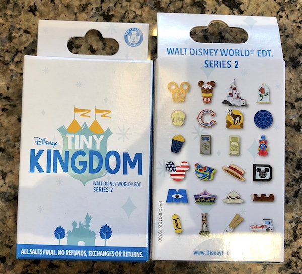 Tiny Kingdom Walt Disney World Series 2 Mystery Pin Collection