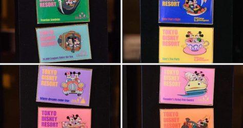 Tokyo Disney Resort Attraction Postcard Pins