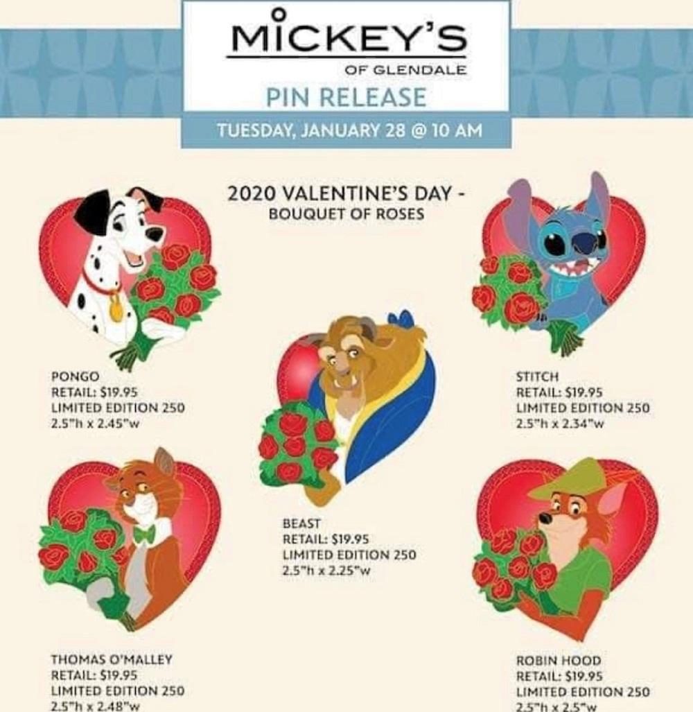 Valentine's Day 2020 WDI Pin Release