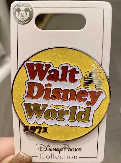 Walt Disney World Yellow Glitter Pin