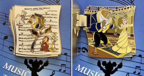 Beauty and the Beast Music to my Ears 2020 Cast Member Pin