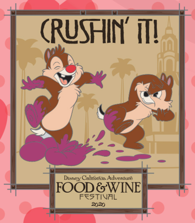 Chip n Dale Pin – DCA Food & Wine Festival 2020