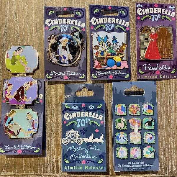 Cinderella 70th Anniversary Disney Pins - PTN