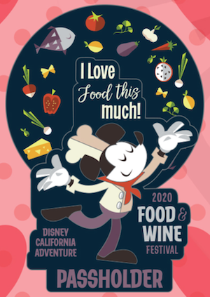 Disney California Adventure Food & Wine Festival 2020 Passholder Pin