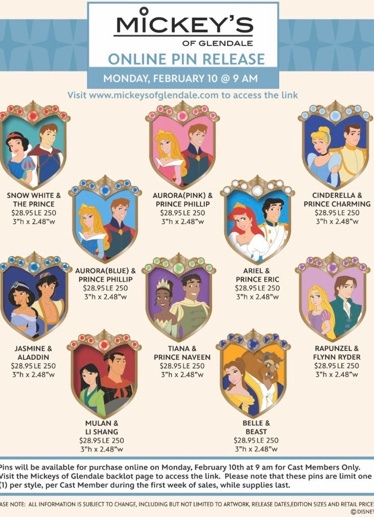 Disney Couples Crest WDI Pin Release