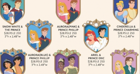 Disney Couples Crest WDI Pins