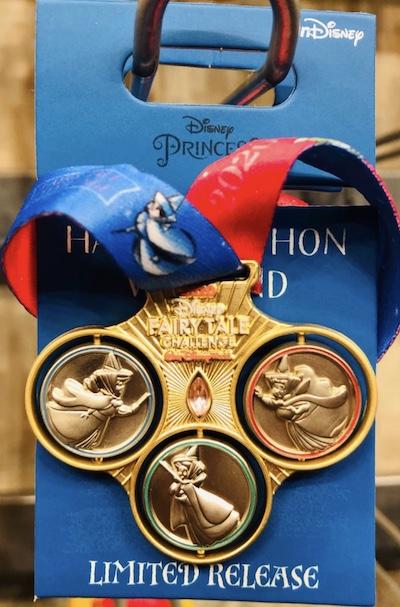 Disney Fairytale Challenge 2020 Medal Pin