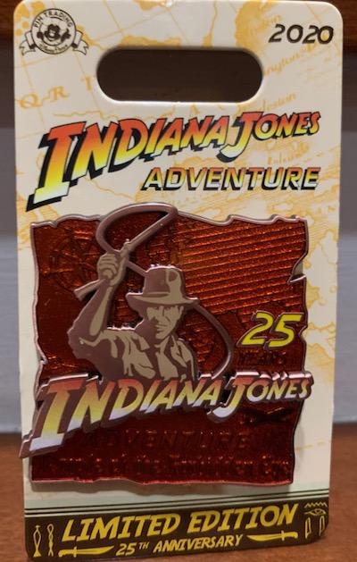 Indiana Jones Attraction 25th Anniversary Disney Pin