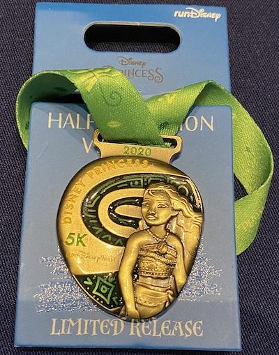 Moana 5k Medal Pin