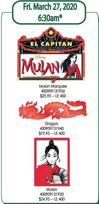 Mulan Live Action DSSH Pins