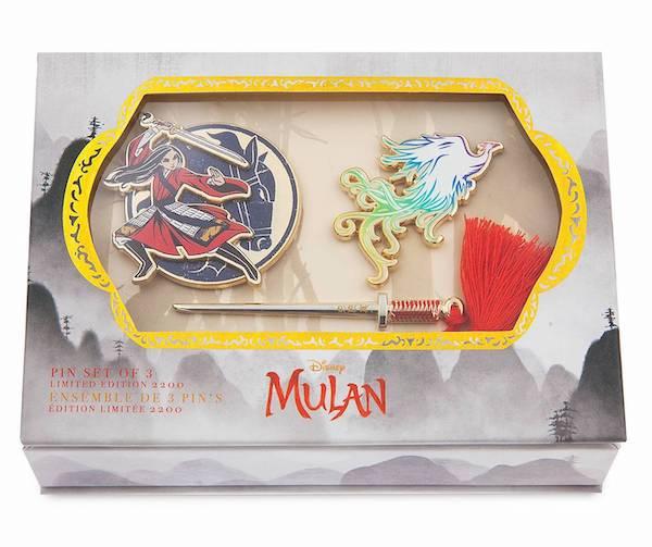 Mulan Live Action Limited Edition shopDisney Pin Set