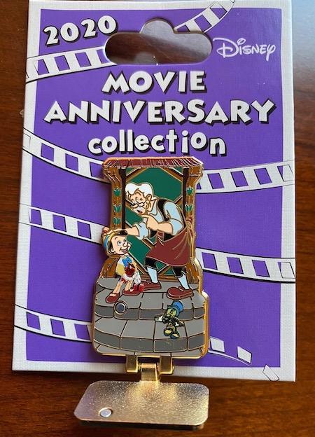 Pinocchio 80th Anniversary Cast Member Pin Opened