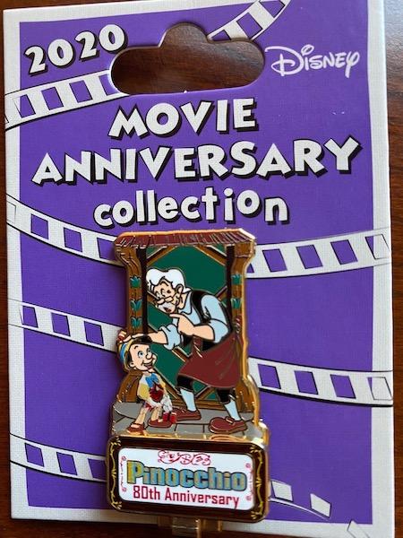 Pinocchio 80th Anniversary Cast Member Pin