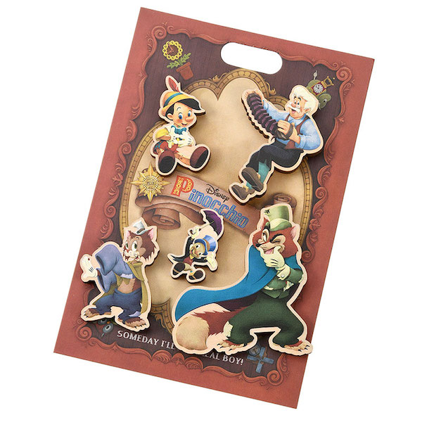 Pinocchio 80th Anniversary Disney Store Japan Pin Set