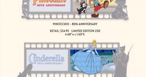 Pinocchio & Cinderella Filmstrip WDI Pin Release