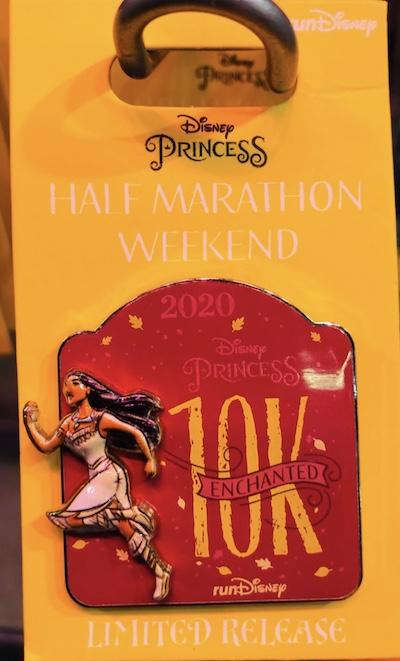 Pocahontas 10k Princess 2020 Pin