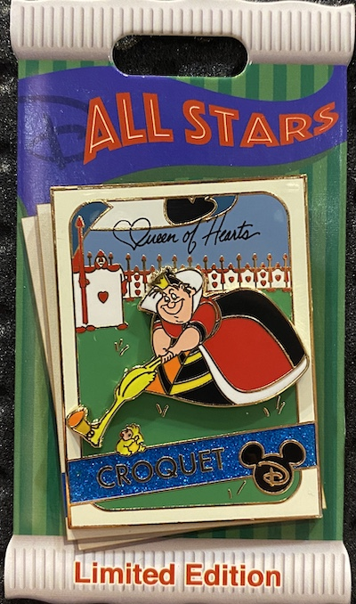 Queen of Hearts Trading Cards Disney Pin