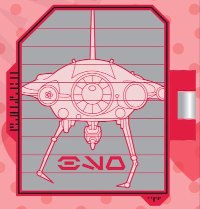 Seeker Droid Schematic Star Wars Galaxy's Edge Pin