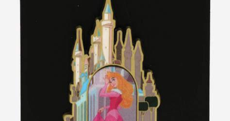 Disney Parks Collection Glitter Castle Princess Sleeping Beauty Aurora Pin NEW