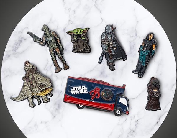 Star Wars The Mandalorian Pin Set Treasure Truck