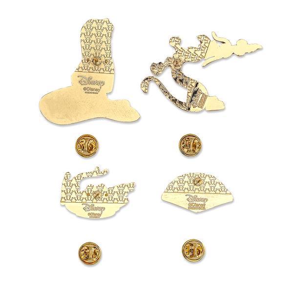 Back of Mulan Loungefly Disney Pin Set