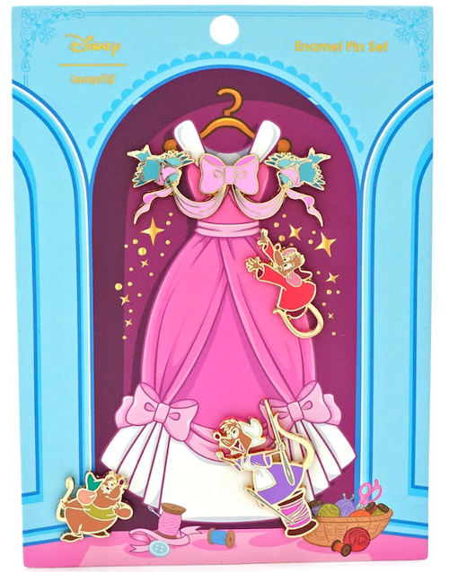 Cinderella 70th Anniversary Loungefly Disney Pin Set