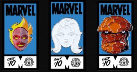 Fantastic Four Mondo Marvel Pins