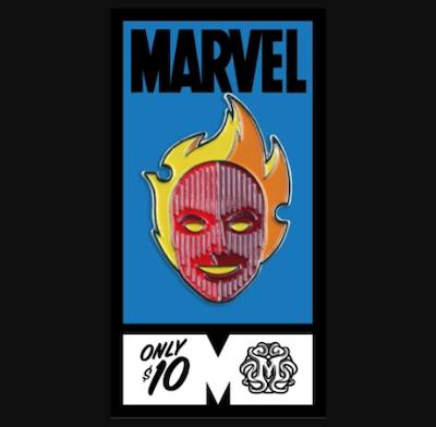 Human Torch Fantastic Four Mondo Marvel Pin