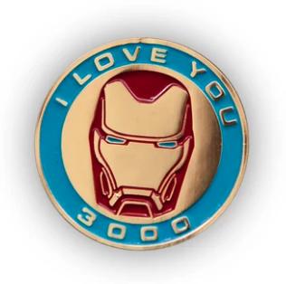 """Iron Man """"I Love You 3000"""" Toynk Pin"""