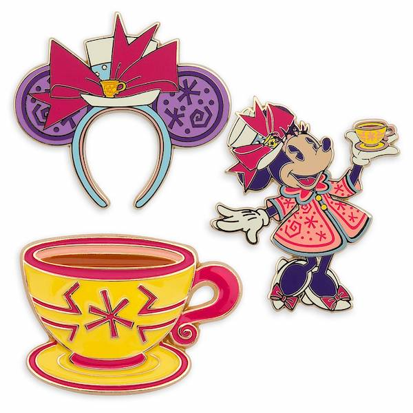 Mad Tea Party Minnie Mouse The Main Attraction Pins