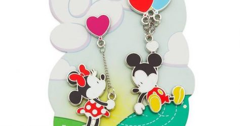 Mickey and Minnie Mouse Balloons Dangle Pin Set