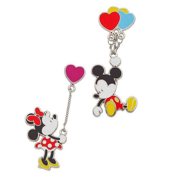 Mickey and Minnie Mouse Balloons shopDisney Pin Set