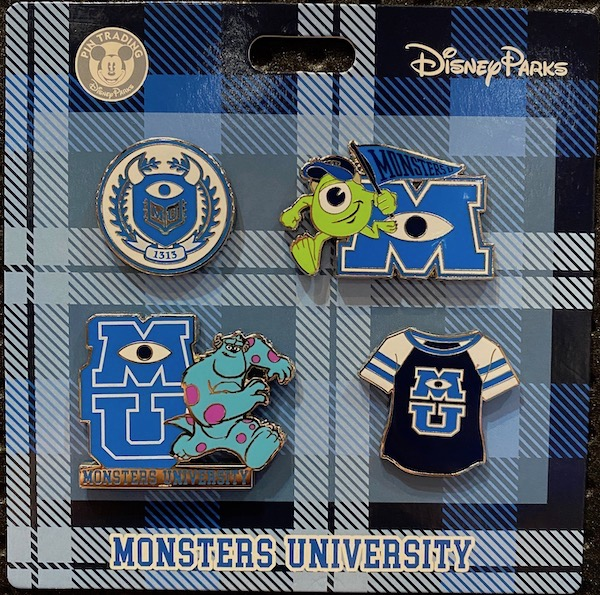 Monsters University Booster Disney Pin Set