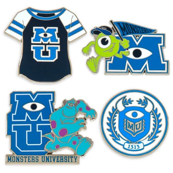 Monsters University Booster Disney Pins