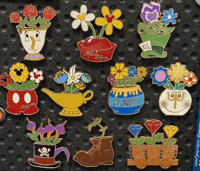 Potted Plant Mystery Disney Pins